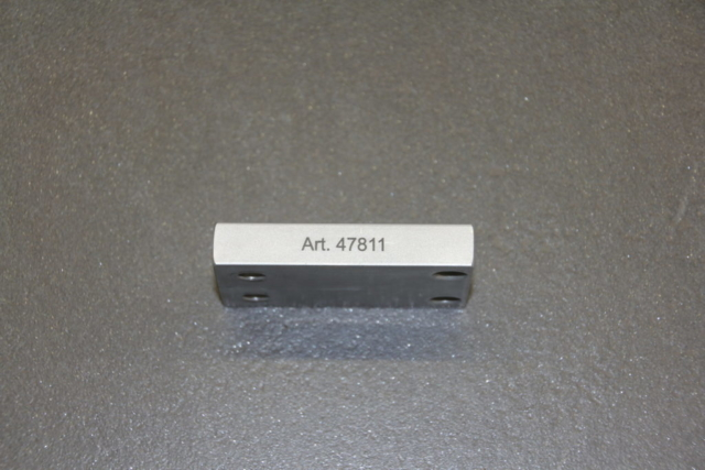 Aluminium roh mit Tiefengravur