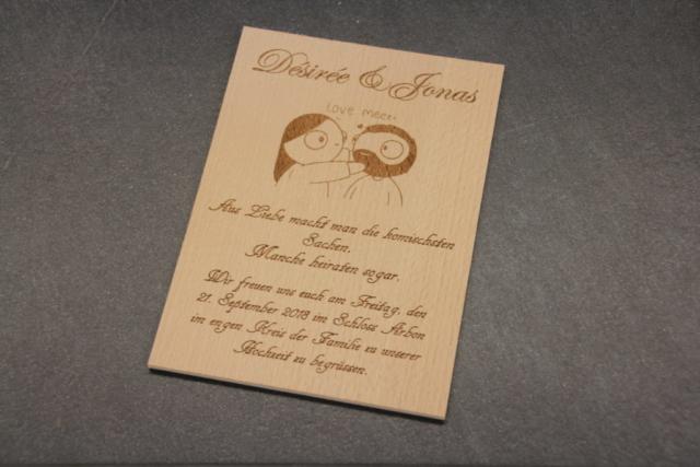 Hochzeitseinladung auf Buche